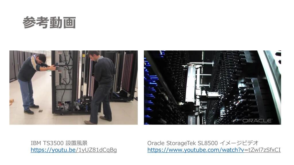 参考動画 IBM TS3500 設置⾵景 https://youtu.be/1yUZ81dCq...