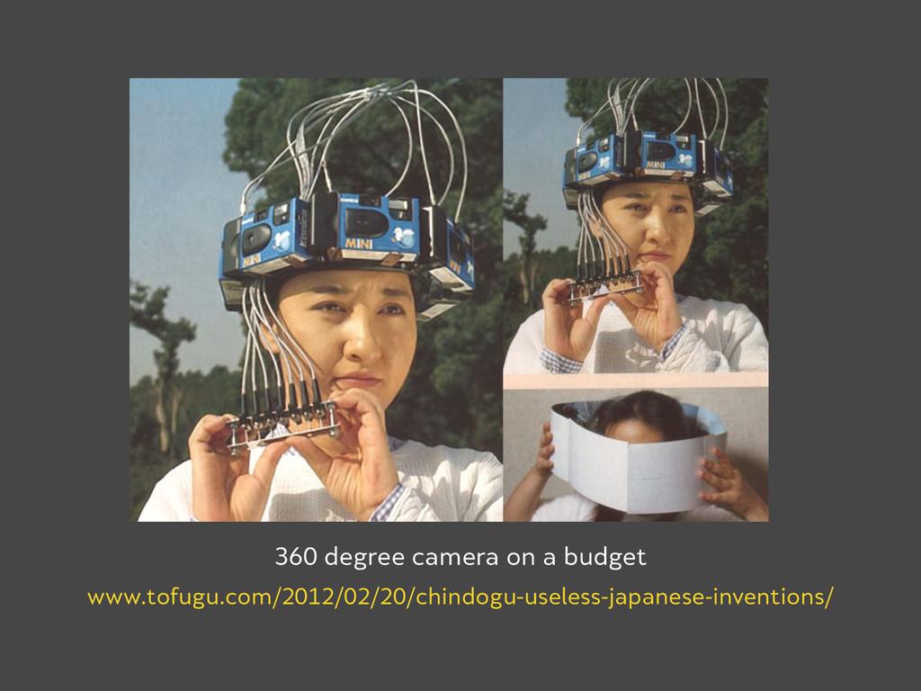 360 degree camera on a budget www.tofugu.com/20...