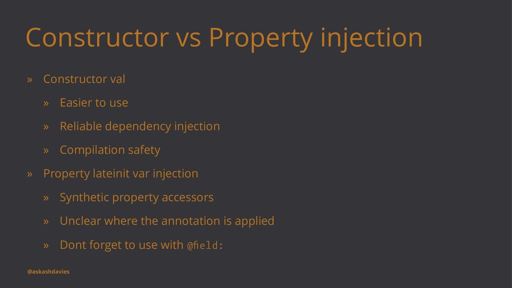 Constructor vs Property injection » Constructor...