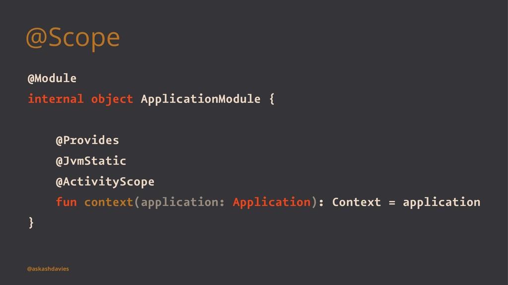 @Scope @Module internal object ApplicationModul...