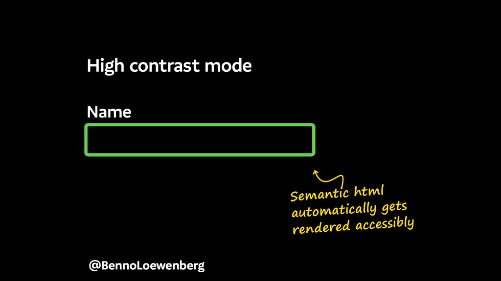Name @BennoLoewenberg High contrast mode Semant...