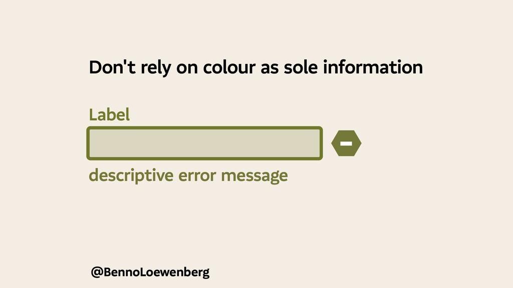 @BennoLoewenberg descriptive error message − Do...