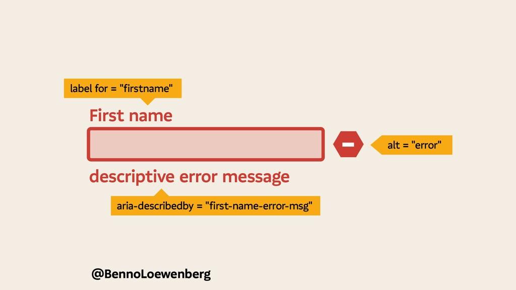 @BennoLoewenberg descriptive error message − Fi...