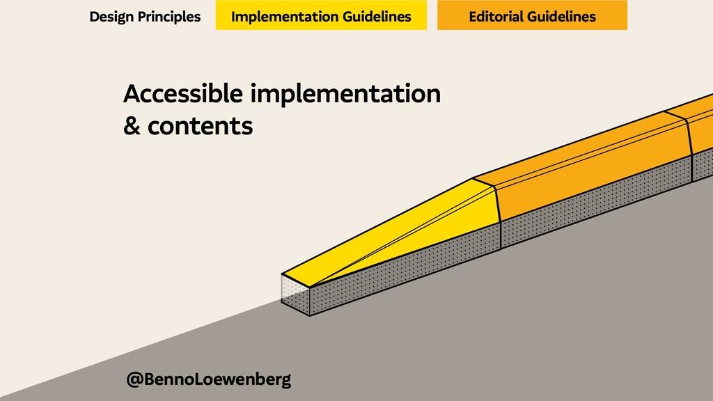 Accessible implementation & contents Design Pri...