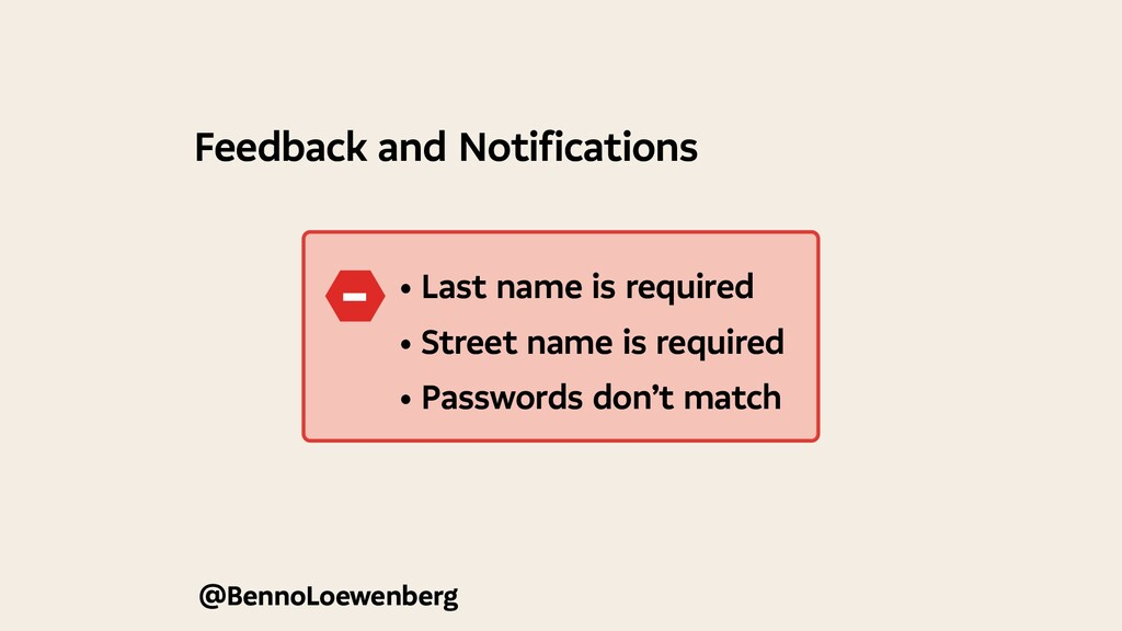 @BennoLoewenberg Feedback and Notifications • L...