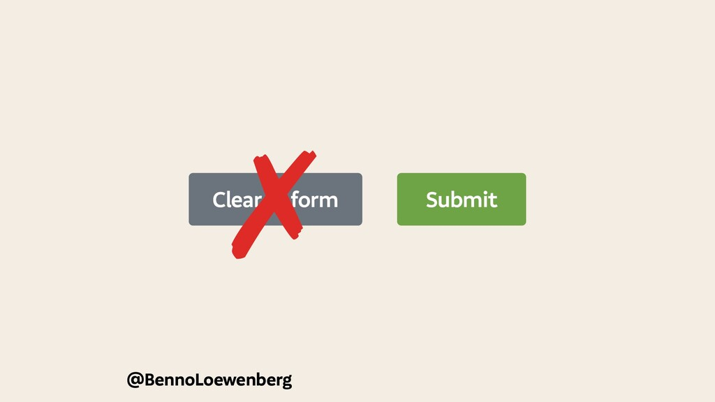 @BennoLoewenberg Submit Clear form ✗