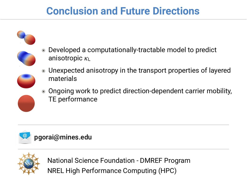 Conclusion and Future Directions National Scien...