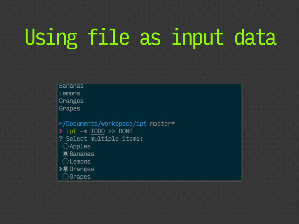 Using file as input data