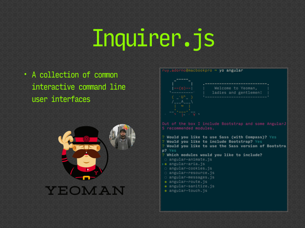 Inquirer.js • A collection of common interactiv...