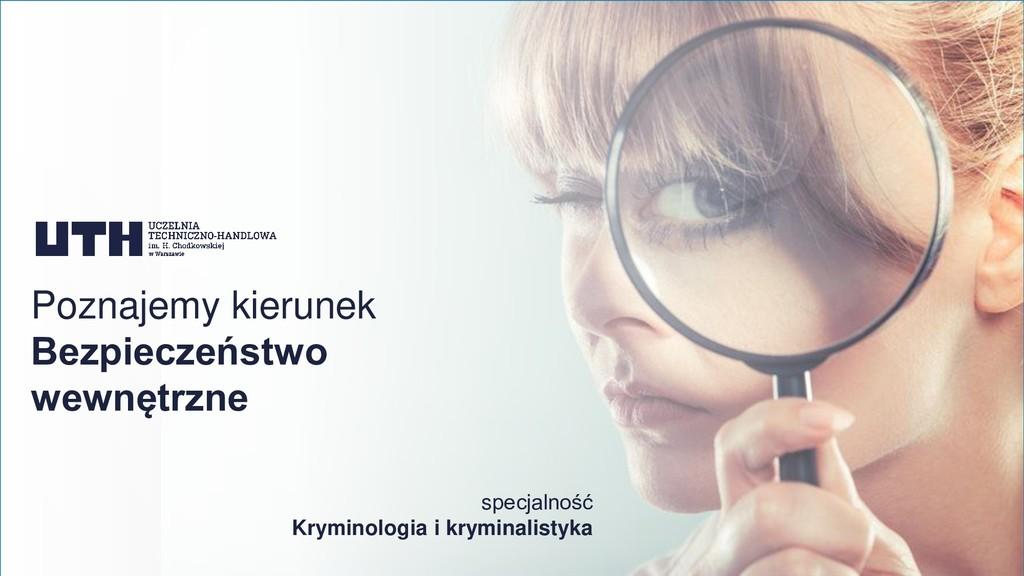 specjalność Kryminologia i kryminalistyka Pozna...