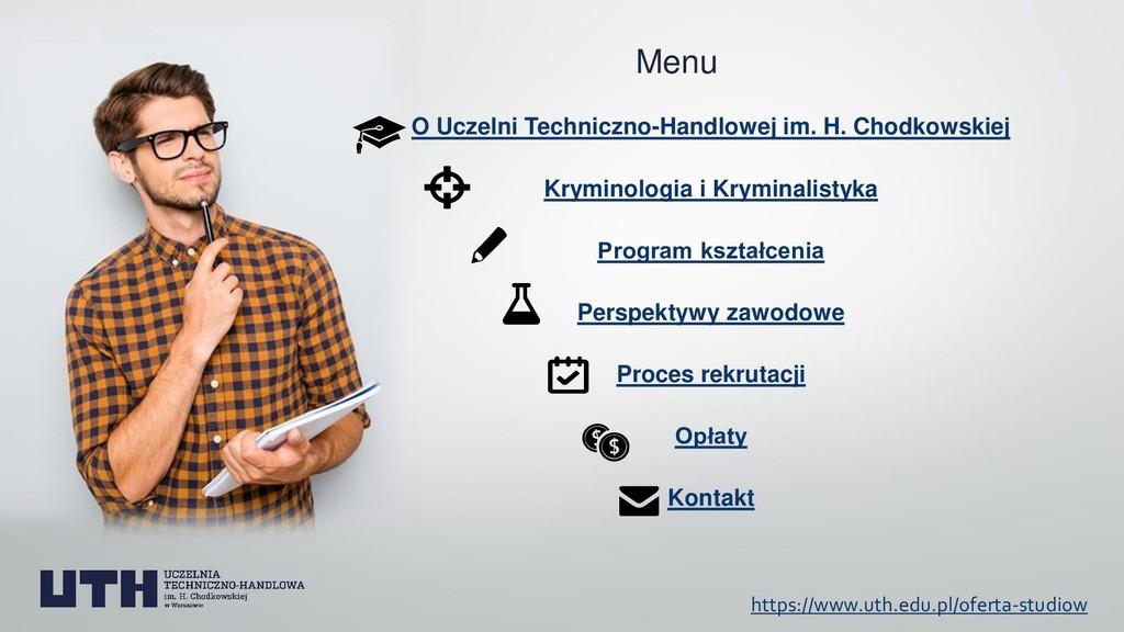 Menu O Uczelni Techniczno-Handlowej im. H. Chod...
