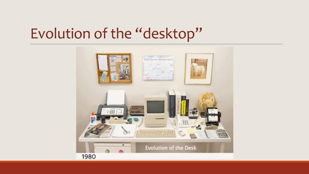 """Evolution of the """"desktop"""""""