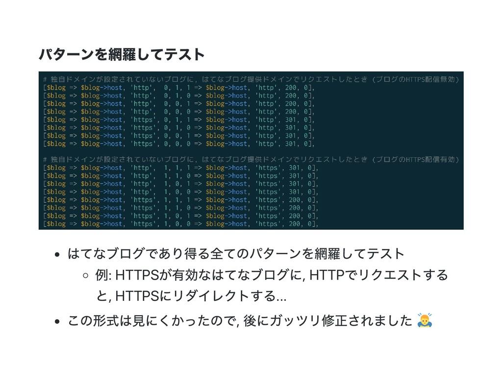 パター ンを網羅してテスト はてなブログであり得る全てのパター ンを網羅してテスト 例: HT...