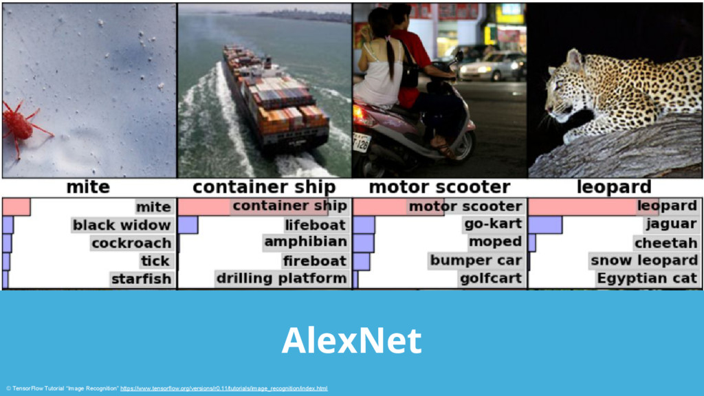 "AlexNet © TensorFlow Tutorial ""Image Recognitio..."