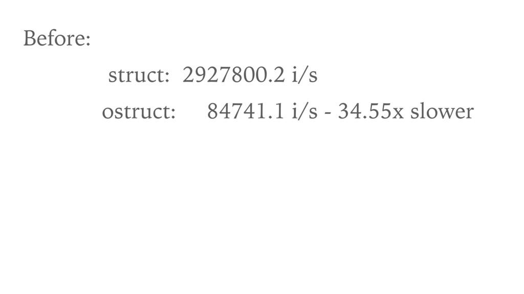 Before: struct: 2927800.2 i/s ostruct: 84741.1 ...