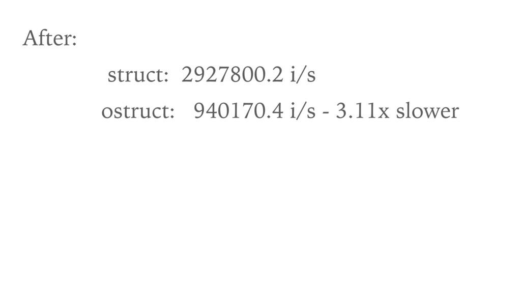 After: struct: 2927800.2 i/s ostruct: 940170.4 ...