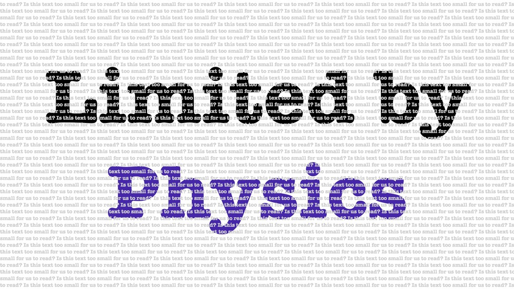 Limited by Physics to read? Is this text too sm...
