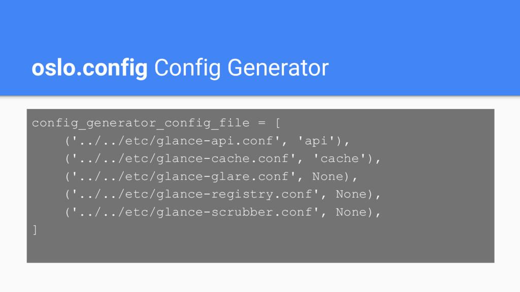 oslo.config Config Generator config_generator_c...