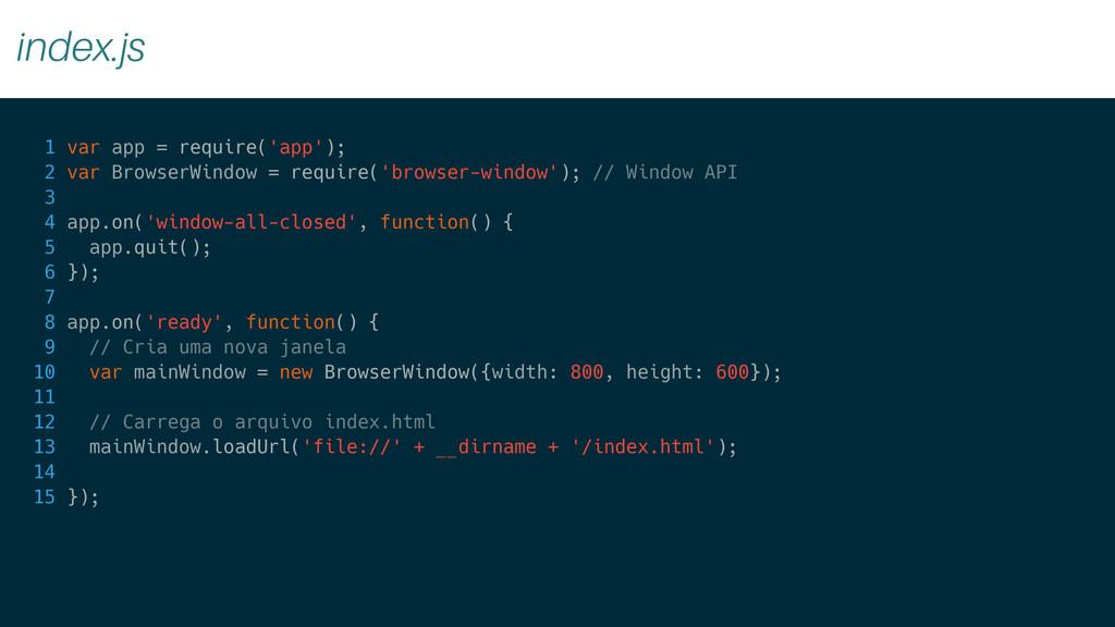 index.js 1 var app = require('app'); 2 var Brow...