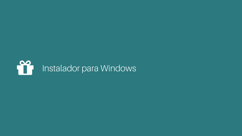 Instalador para Windows %