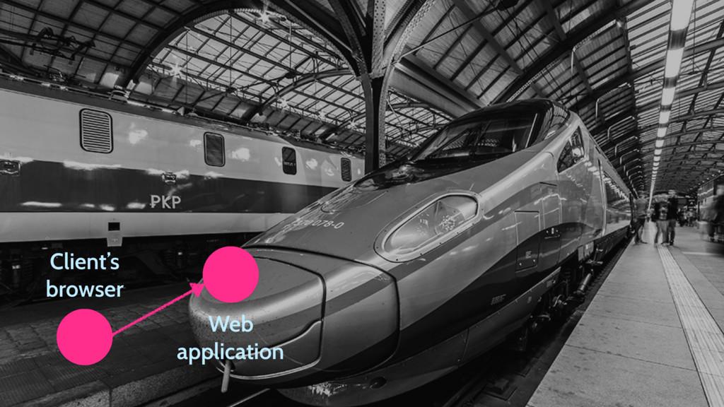 Client's browser Web application