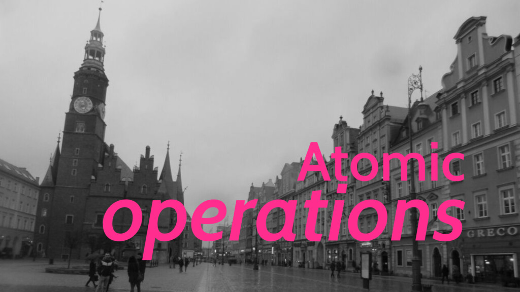 Atomic operations