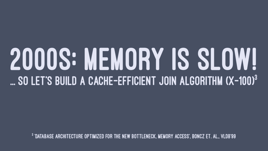 2000S: MEMORY IS SLOW! ... SO LET'S BUILD A CAC...