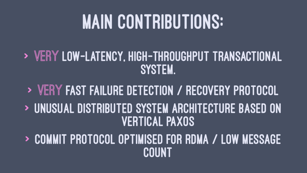 MAIN CONTRIBUTIONS: > Very low-latency, high-th...