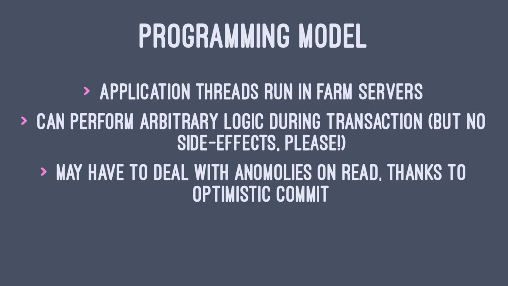 PROGRAMMING MODEL > Application threads run in ...