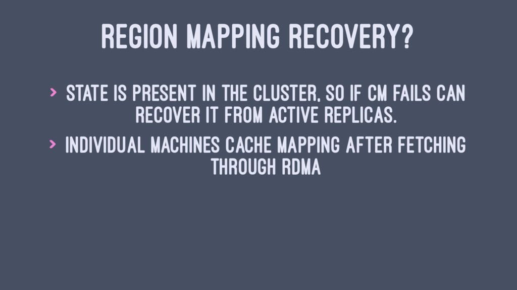REGION MAPPING RECOVERY? > State is present in ...