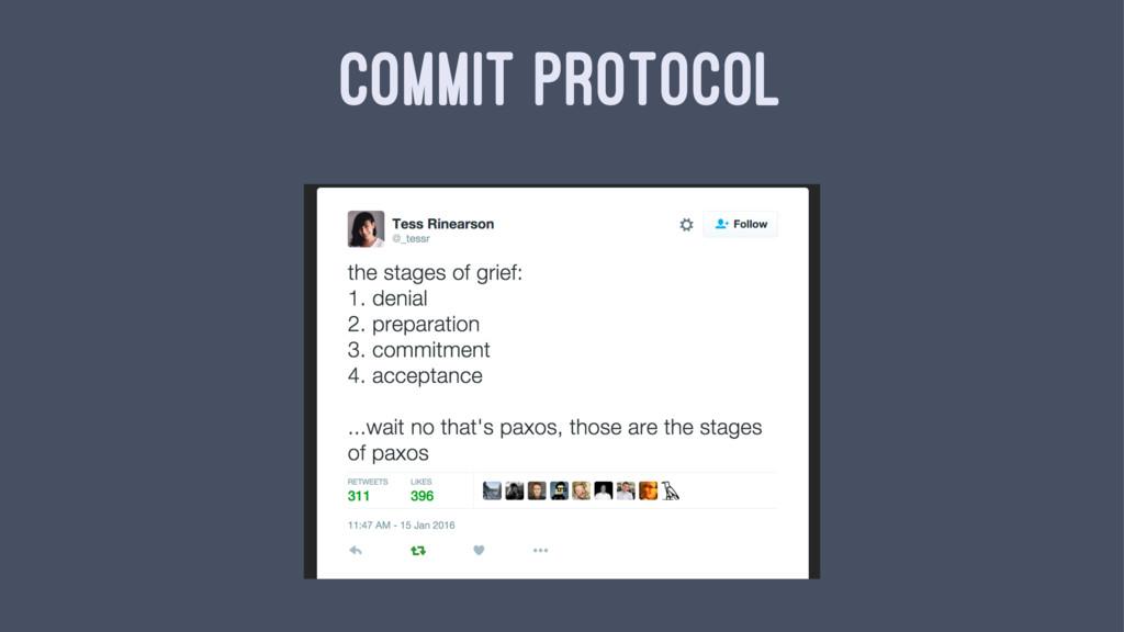 COMMIT PROTOCOL