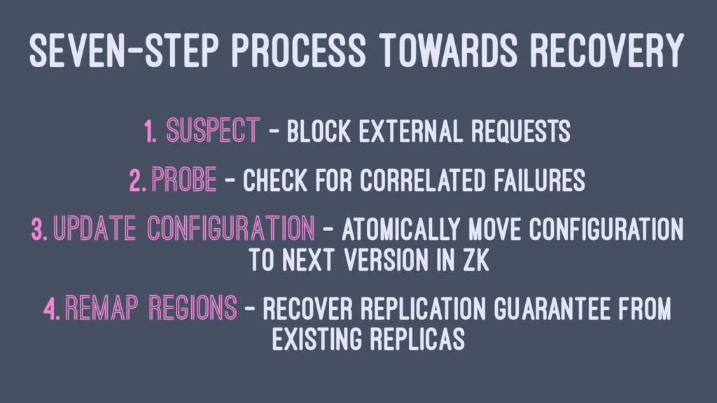 SEVEN-STEP PROCESS TOWARDS RECOVERY 1. Suspect ...