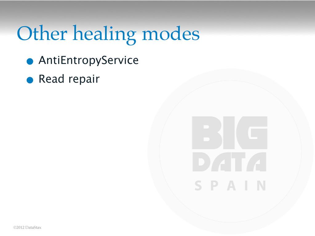 ©2012 DataStax Other healing modes • AntiEntrop...