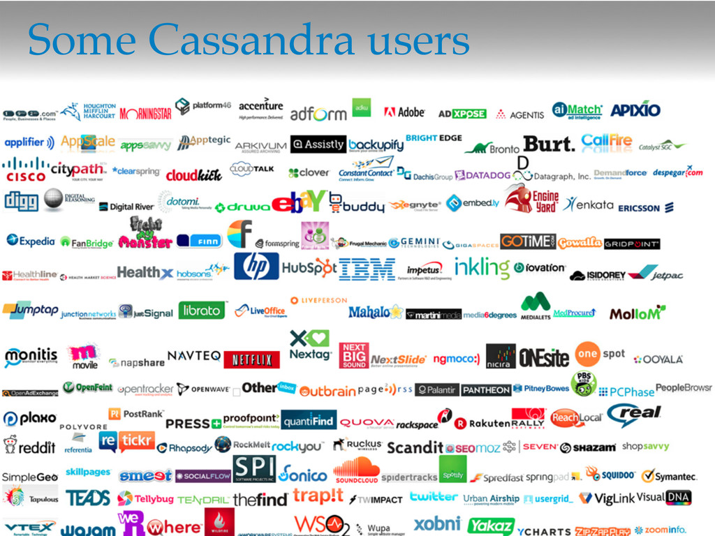 ©2012 DataStax Some Cassandra users