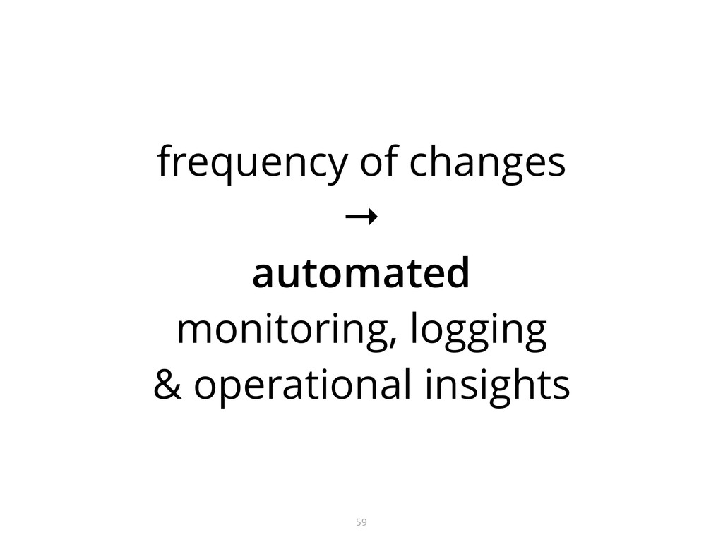 frequency of changes →  automated monitoring,...