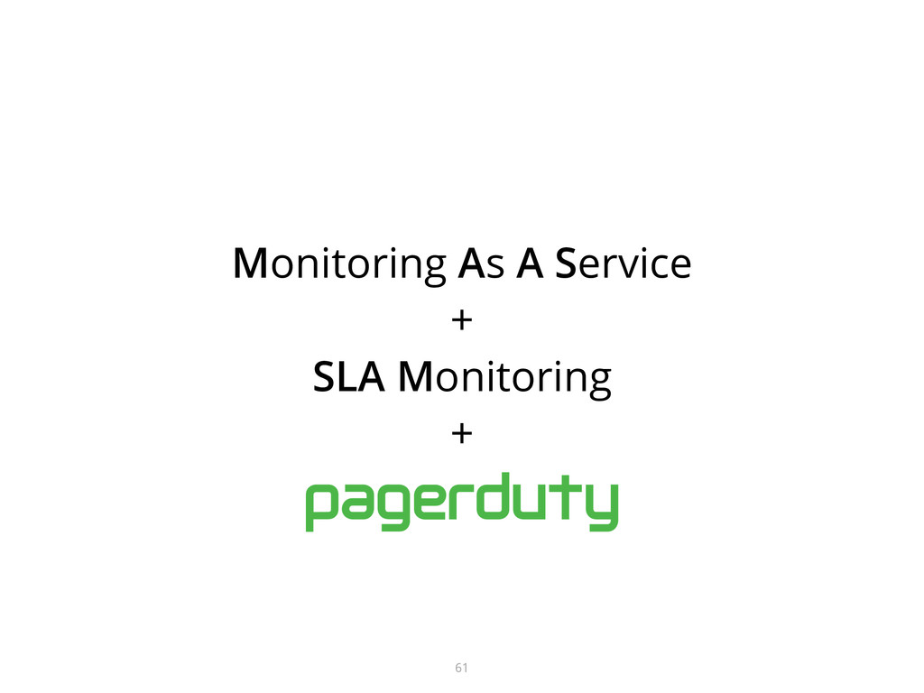 Monitoring As A Service + SLA Monitoring + 61