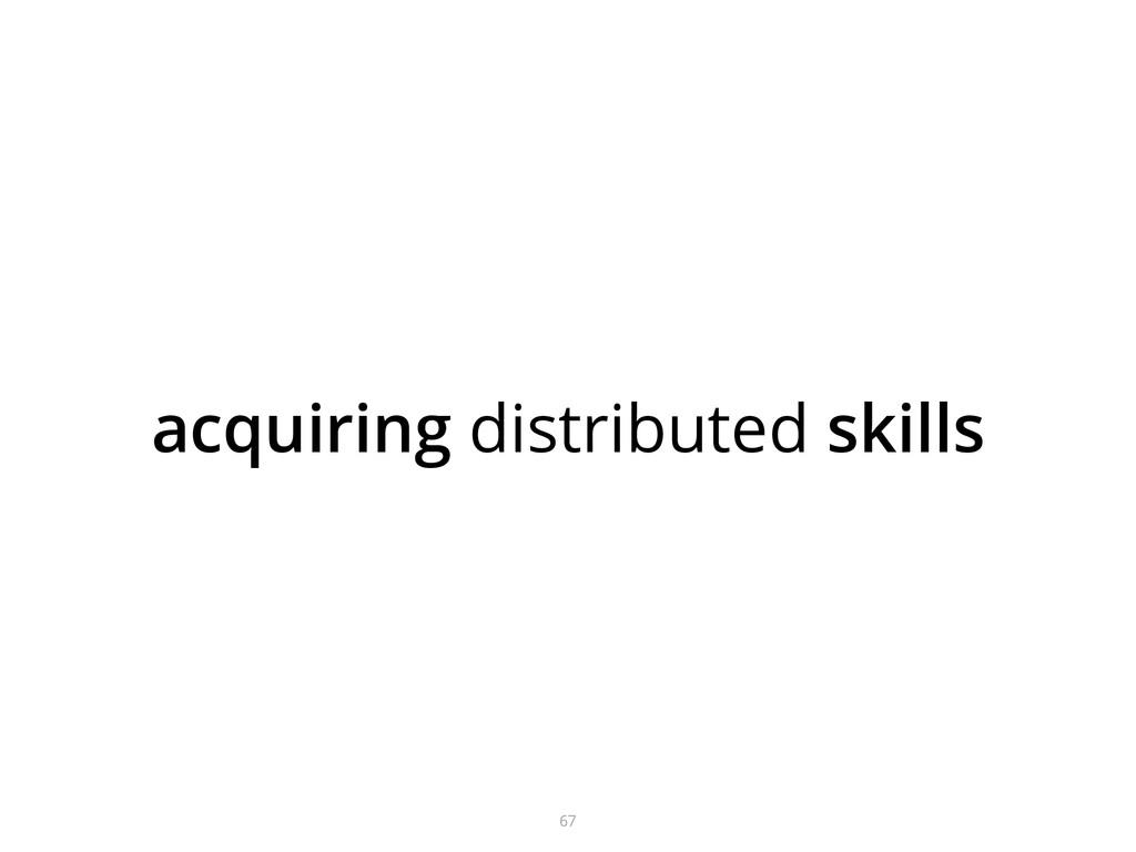 acquiring distributed skills 67