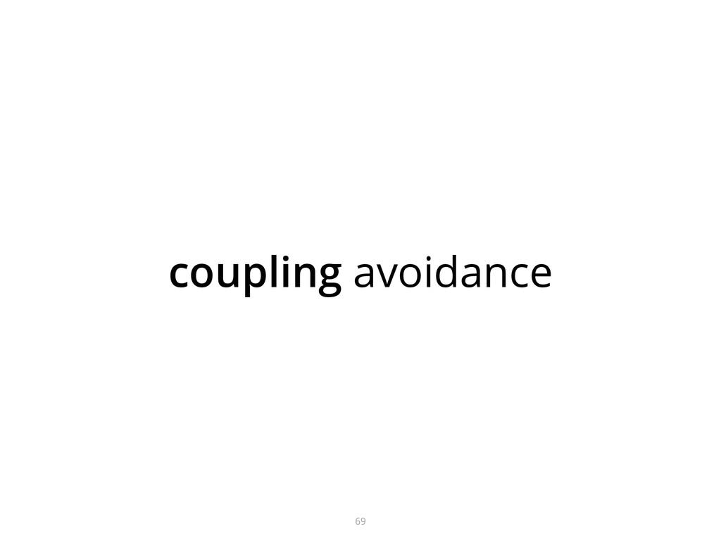 coupling avoidance 69