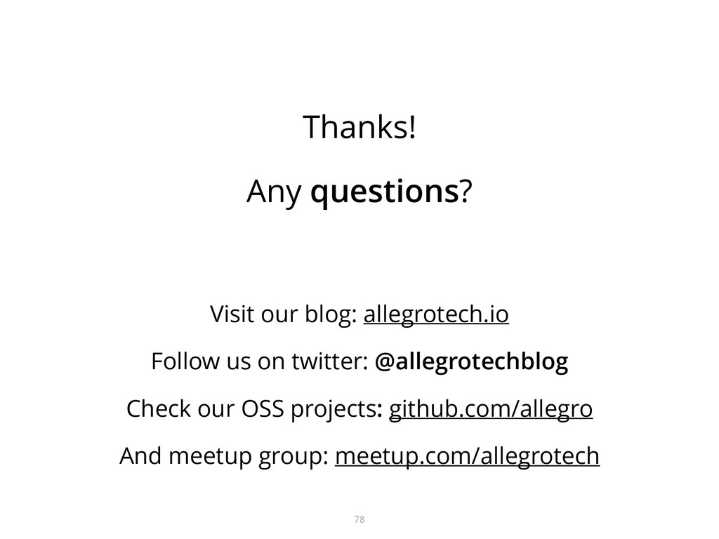 Thanks! Any questions? Visit our blog: allegrot...
