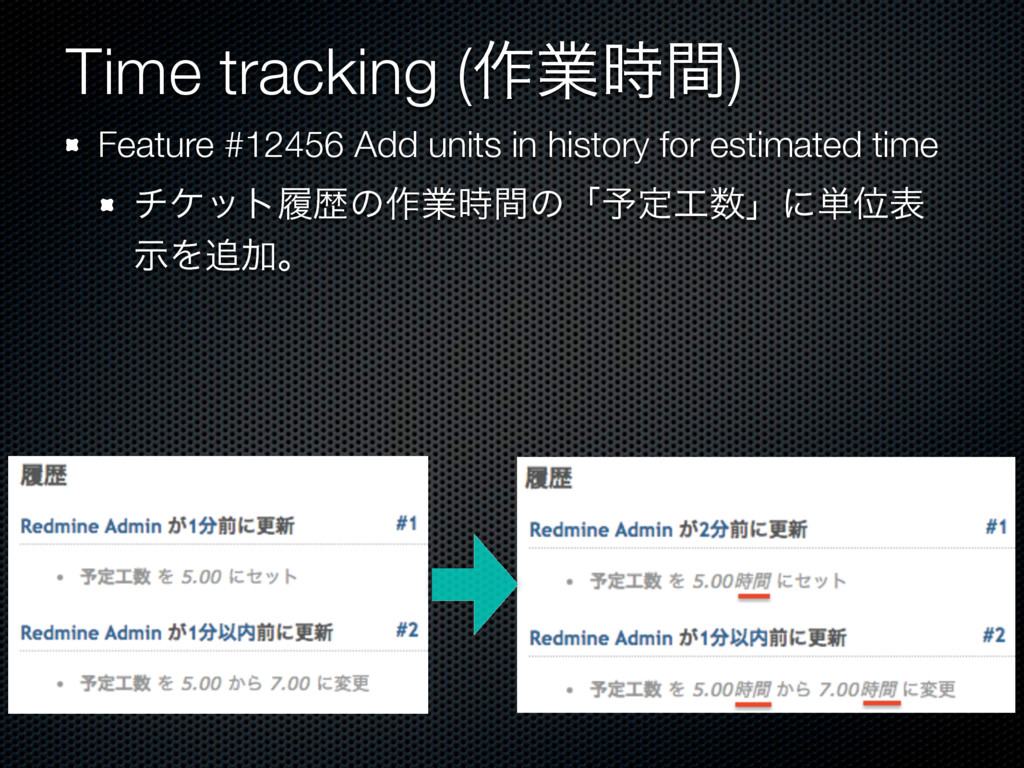 Time tracking (࡞ۀ࣌ؒ) Feature #12456 Add units i...