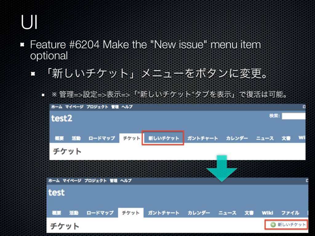 "UI Feature #6204 Make the ""New issue"" menu item..."