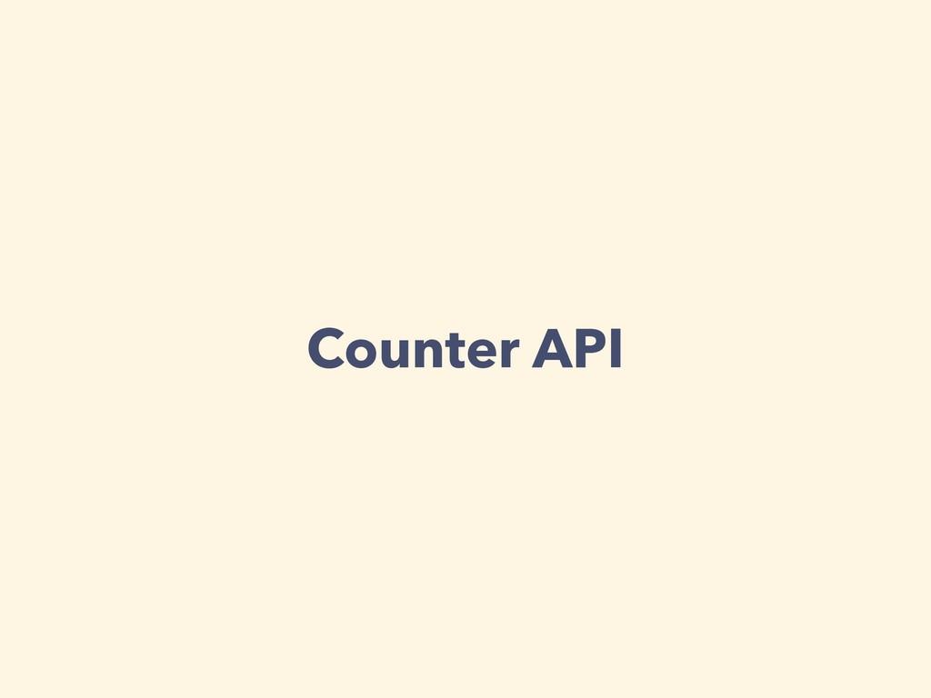 Counter API