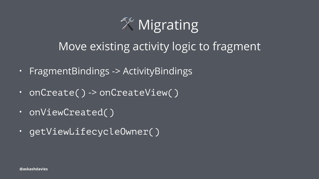 ! Migrating Move existing activity logic to fra...