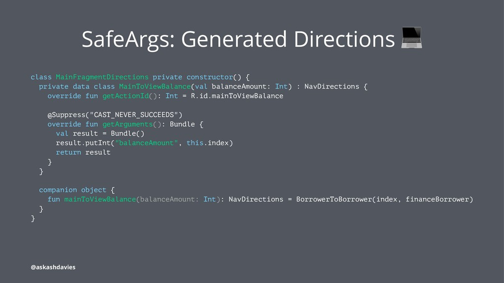 SafeArgs: Generated Directions class MainFragme...