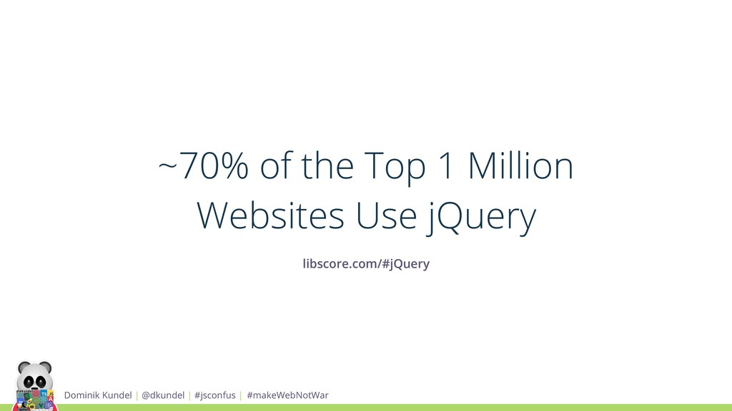 ~70% of the Top 1 Million Websites Use jQuery l...