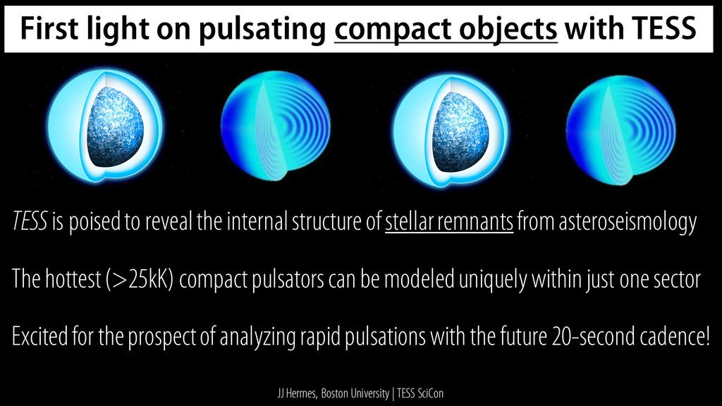 First light on pulsating compact objects with T...