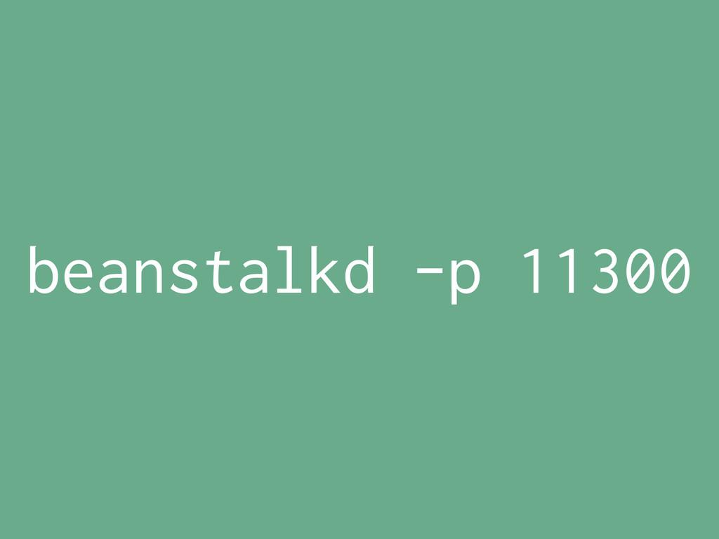 beanstalkd -p 11300