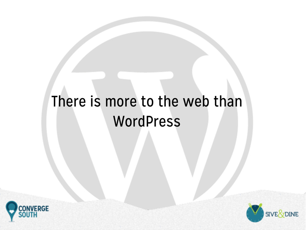 There is more to the web than WordPress