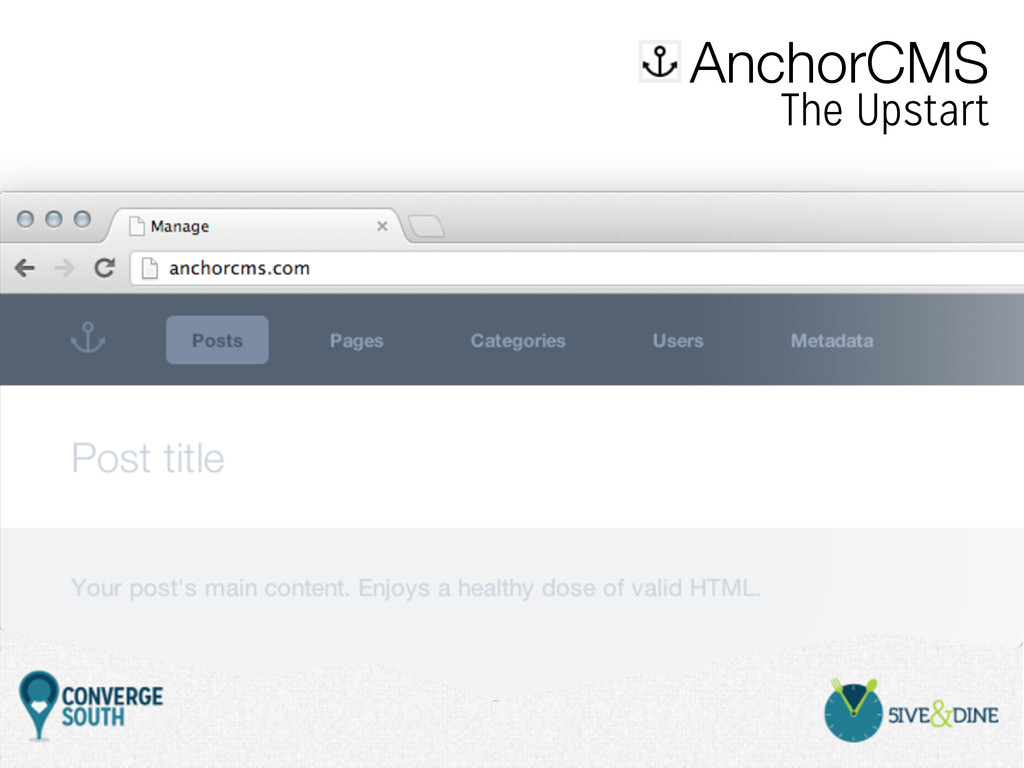 AnchorCMS The Upstart