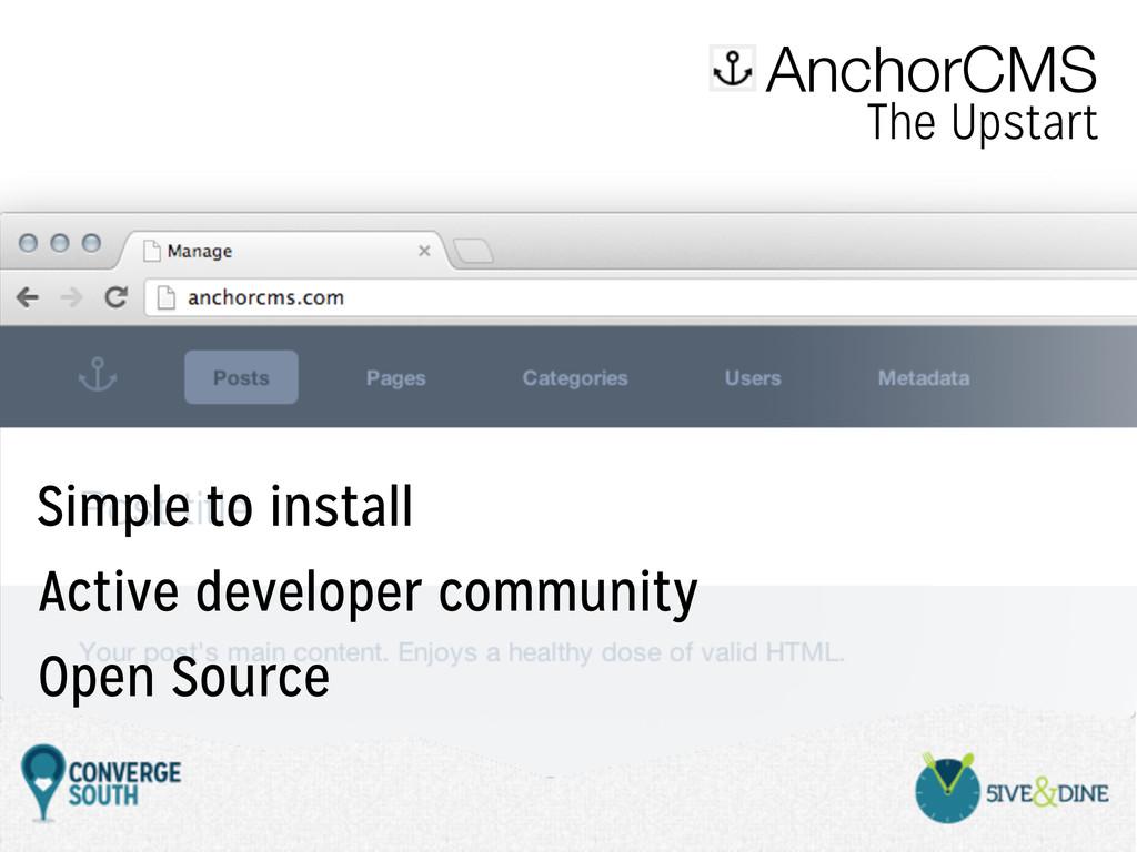 AnchorCMS The Upstart Active developer communit...